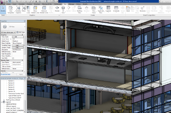Revit Screen Shaded Section